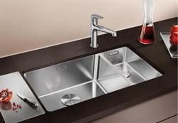 Blanco ANDANO 500/180-U нерж.сталь полированная с отв. арм. InFino, левая - фото 11827