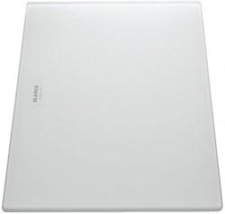 Blanco Разделочная доска белое матовое стекло 420х240 мм - фото 13512