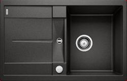 Blanco METRA 45 S SILGRANIT черный с клапаном-автоматом - фото 16991