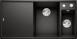 Blanco AXIA III 6 S SILGRANIT черный чаша справа, доска стекло c кл.-авт. InFino - фото 21162