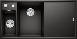 Blanco AXIA III 6 S SILGRANIT  черный чаша слева, доска стекло c кл.-авт. InFino® - фото 21207