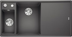 Blanco AXIA III 6 S SILGRANIT темная скала чаша слева, доска стекло c кл.-авт. InFino® - фото 21217