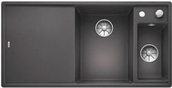 Blanco AXIA III 6 S SILGRANIT темная скала чаша справа, разделочный столик ясень c кл.-авт. InFino - фото 21269
