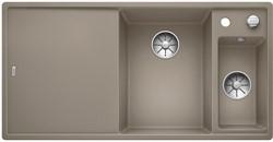 Blanco AXIA III 6 S SILGRANIT серый беж чаша справа, разделочный столик ясень c кл.-авт. InFino - фото 21295