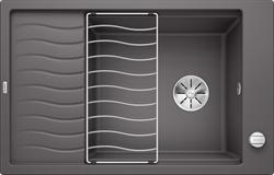 Blanco ELON XL 6 S SILGRANIT темная скала с клапаном-автоматом InFino - фото 21530