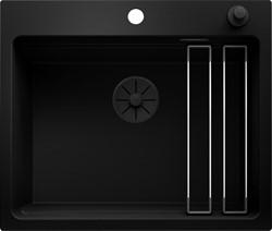 Blanco ETAGON 6 Black Edition черный с клапаном-автоматом с черной отв.арм. InFino® - фото 21675