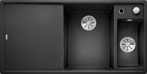 Blanco AXIA III 6 S SILGRANIT антрацит чаша справа, доска стекло c кл.-авт. InFino