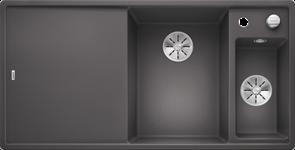 Blanco AXIA III 6 S SILGRANIT темная скала чаша справа, доска стекло c кл.-авт. InFino