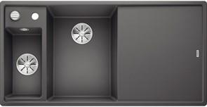 Blanco AXIA III 6 S SILGRANIT темная скала чаша слева, доска стекло c кл.-авт. InFino®