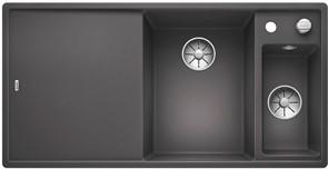 Blanco AXIA III 6 S SILGRANIT темная скала чаша справа, разделочный столик ясень c кл.-авт. InFino