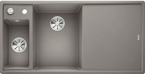 Blanco AXIA III 6 S SILGRANIT алюметаллик чаша слева, разделочный столик ясень c кл.-авт. InFino®