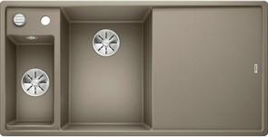Blanco AXIA III 6 S SILGRANIT серый беж чаша слева, разделочный столик ясень c кл.-авт. InFino®