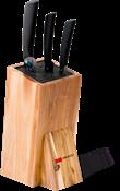 Набор из 3 ножей MIKADZO Imari-BL+ подставка